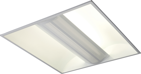 Knightsbridge 230V IP20 2x55W PL HF Perforated Panel Fluorescent Modular Fitting 600x600mm