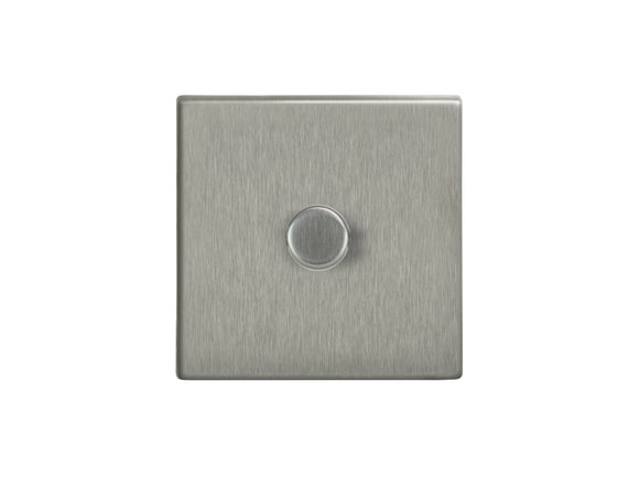 Focus SB Morpheus 1 Gang 2 Way Push On/Off Dimmer Switch Satin Steel