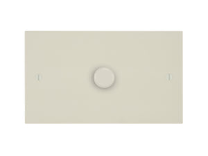 Focus SB Ambassador 1 Gang 2 Way Push On/Off Dimmer Switch Primed White Twin Plate