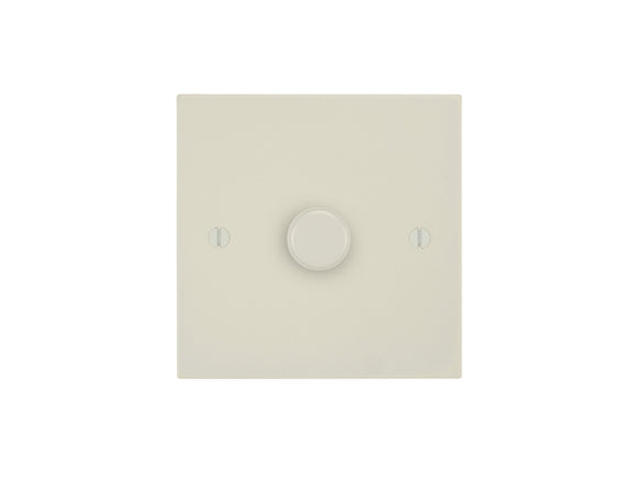 Focus SB Ambassador Square 1 Gang 2 Way Push On/Off Dimmer Switch Primed White Single