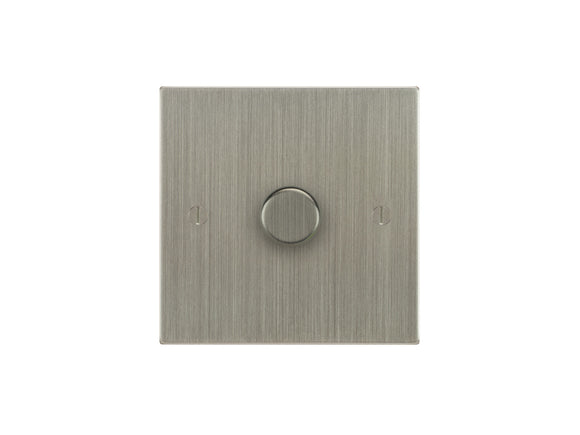 Focus SB Ambassador 1 Gang 400W 2 Way Push On/Off Dimmer Switch Satin Nickel