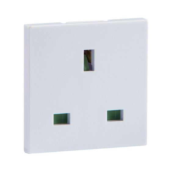Knightsbridge 13A 1G UNSWITCHED SOCKET - WHITE (50 X 50MM)