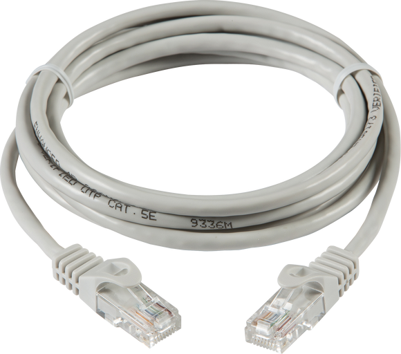 Knightsbridge 1m UTP CAT5E NEWORKING CABLE - GREY