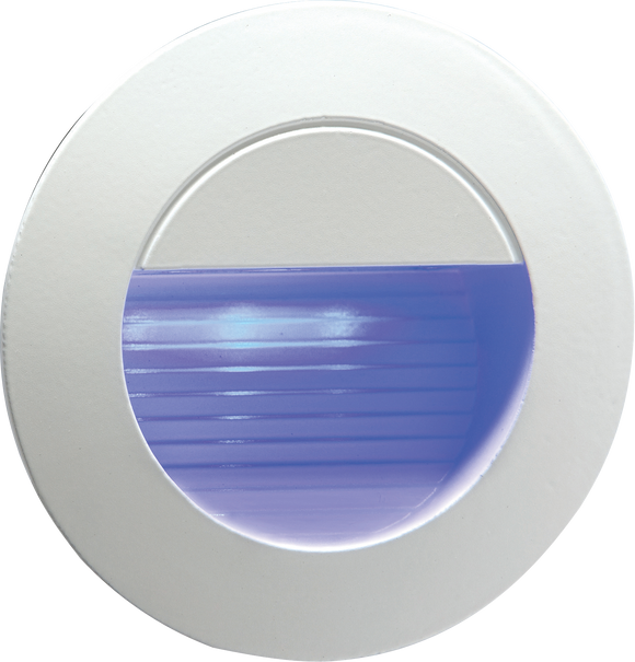Knightsbridge 230V IP54 Recessed Round Indoor/Outdoor LED Guide/Stair/Wall Light Blue LED