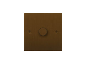 Focus SB Horizon 1 Gang 2 Way Push On/Off Dimmer Switch Bronze Antique