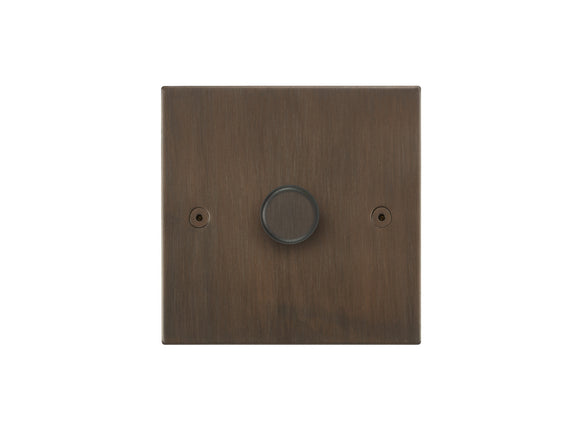 Focus SB Horizon 1 Gang 2 Way Push On/Off Dimmer Switch Chocolate Bronze Single