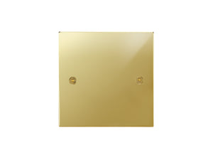 Focus SB Horizon Single Blanking Plate Polished Brass
