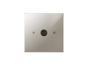 Focus SB Horizon TV Co-Axial 1 Gang Socket Polished Nickel