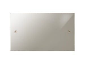 Focus SB Horizon Double Blanking Plate Polished Nickel