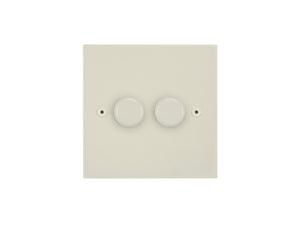 Focus SB Horizon 2 Gang 2 Way Push On/Off Dimmer Switch Colour Coated