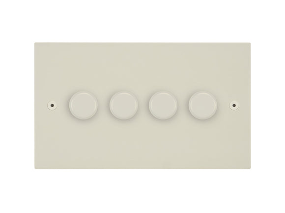Focus SB Horizon 4 Gang 2 Way Push On/Off Dimmer Switch Colour Coated