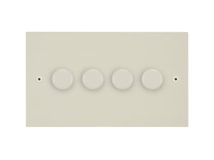 Focus SB Horizon 4 Gang 2 Way Push On/Off Dimmer Switch Primed White