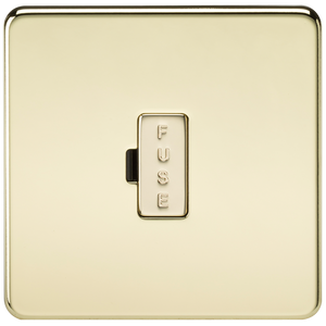 Knightsbridge Screwless 13A Fused Spur Unit - Polished Brass