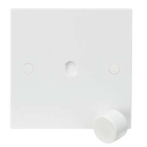 Knightsbridge 1G Plate with Dimmer Cap