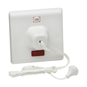 Knightsbridge 45A DP Pull Cord Switch with Neon