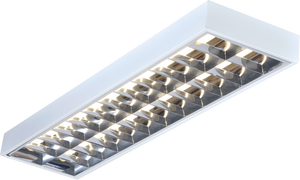 Knightsbridge IP20 2x36W 4ft T8 Surface Mounted Fluorescent Fitting 1220x305x80mm