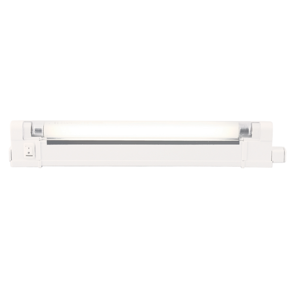Knightsbridge IP20 6W T4 Fluorescent Fitting with Tube, Switch and Diffuser 4000K