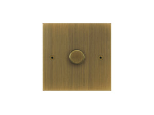 Focus SB True Edge 1 Gang 2 Way Push On/Off Dimmer Switch Antique Brass