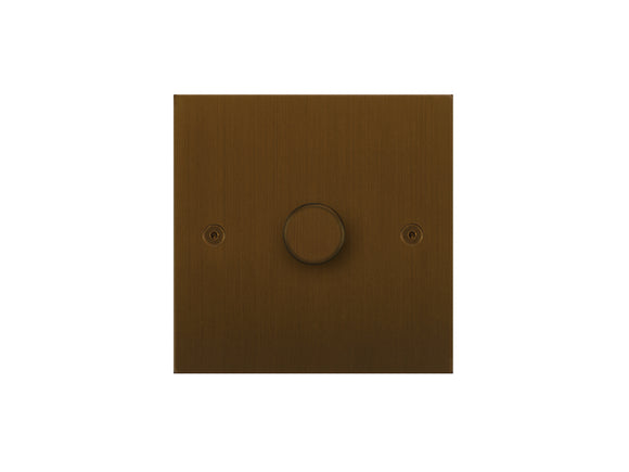Focus SB True Edge 1 Gang 2 Way Push On/Off Dimmer Switch Bronze Antique