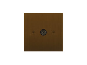 Focus SB True Edge TV Co-Axial 1 Gang Socket Bronze Antique