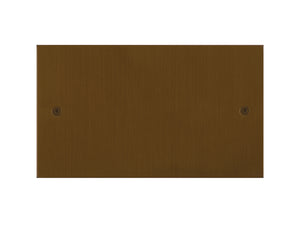 Focus SB True Edge Double Blanking Plate Bronze Antique