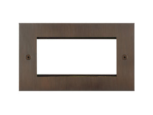 Focus SB True Edge 4 Module Euro Plate Chocolate Bronze