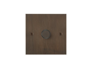 Focus SB True Edge 1 Gang 2 Way Push On/Off Dimmer Switch Chocolate Bronze