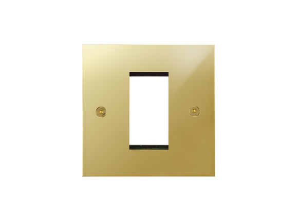 Focus SB True Edge 1 Module Euro Plate Polished Brass