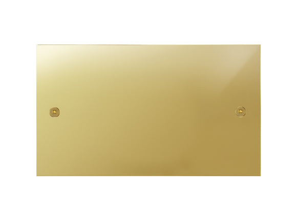 Focus SB True Edge Double Blanking Plate Polished Brass