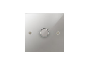 Focus SB True Edge 1 Gang 2 Way Push On/Off Dimmer Switch Polished Chrome