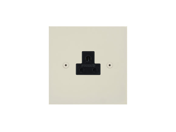 Focus SB True Edge Unswitched 1 Gang Socket Colour Coated Black Insert
