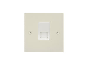 Focus SB True Edge Telephone Slave 1 Gang Socket Colour Coated White Insert