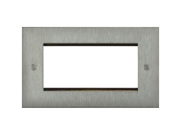 Focus SB True Edge 4 Module Euro Plate Satin Steel