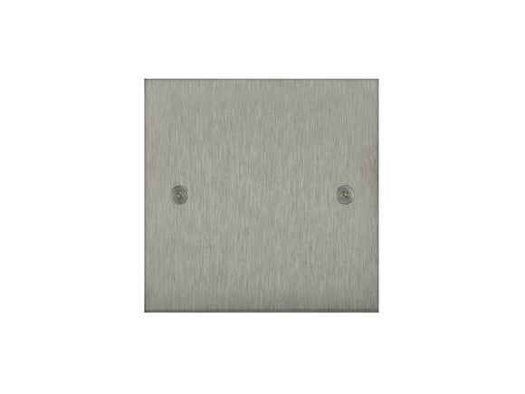 Focus SB True Edge Single Blanking Plate Satin Steel