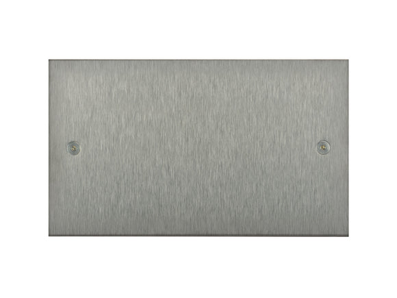 Focus SB True Edge Double Blanking Plate Satin Steel