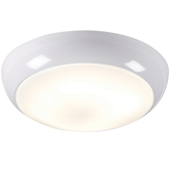 Knightsbridge IP44 38W POLO OPAL DIFFUSER & WHITE BASE - HF