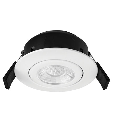 Greenbrook Vela Compact PRO 6W Fire Rated Downlight - Tilt - White