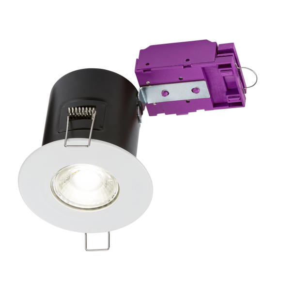 Knightsbridge 230V Fixed GU10 Fire-Rated Downlight White