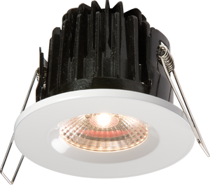 Knightsbridge IP65 7W LED 3000K Warm White Downlight comes with White Round Bezel