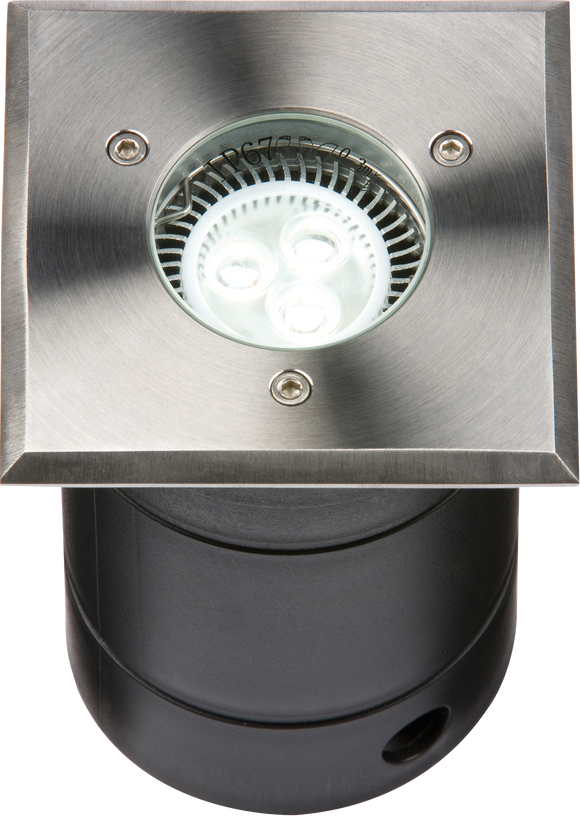 Knightsbridge 230V IP67 Square Stainless Steel Walkover / Driveover Light