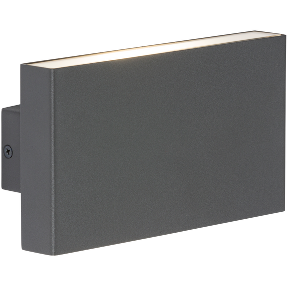 Knightsbridge 230V IP54 2x8W Up/Down LED Wall Light - Anthracite