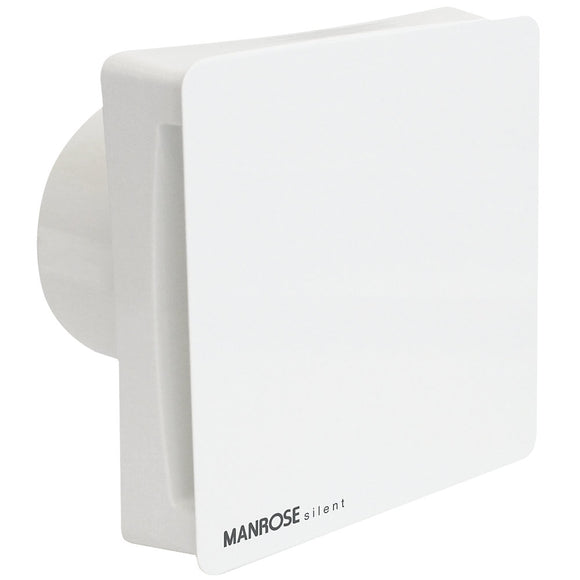 Manrose CSF100T 7W Silent Conceal Bathroom Extractor Fan with Timer White 240V
