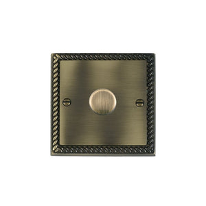 Cheriton Georgian Antique Brass 1g 400W 2 way Dimmer AB