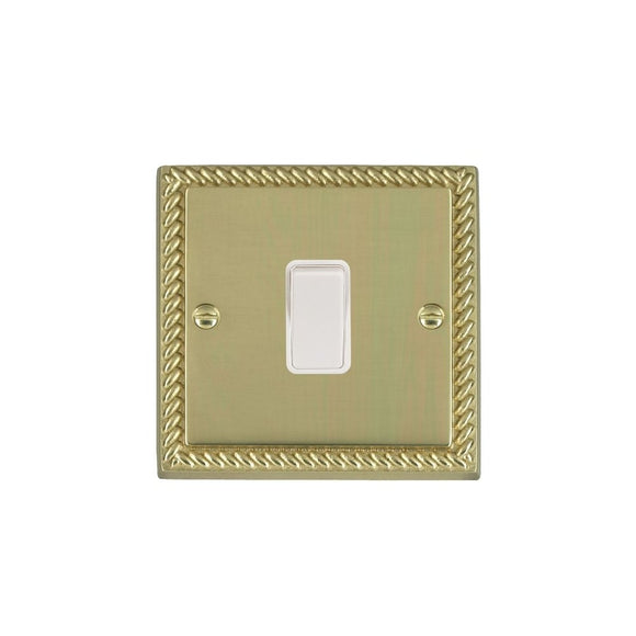 Cheriton Georgian Polished Brass 10AX PTM Ret Rkr WH/WH
