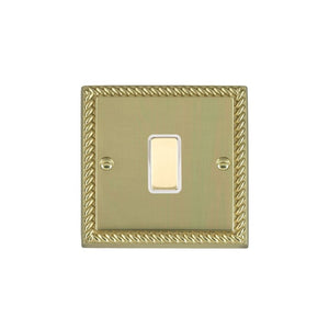 Cheriton Georgian Polished Brass 1g 250W M-Way Touch Mast PB/WH