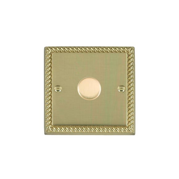 Cheriton Georgian Polished Brass 1g 400W 2 way Dimmer PB