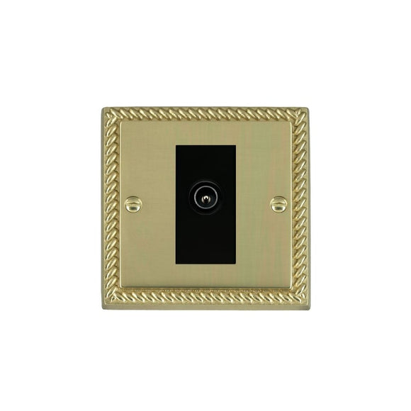 Cheriton Georgian Polished Brass 1g Non-Isolated TV (Male)BL