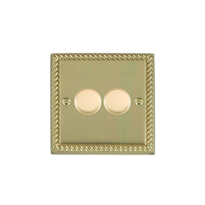 Cheriton Georgian Polished Brass 2g 200VA 2 way Dimmer PB