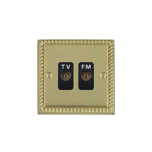 Cheriton Georgian Polished Brass Isol TVFM Diplex 1in/2o BL