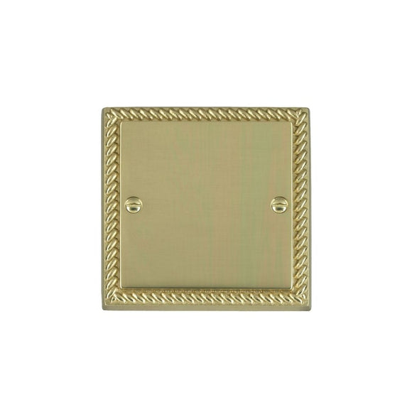 Cheriton Georgian Polished Brass Single Blank Plate